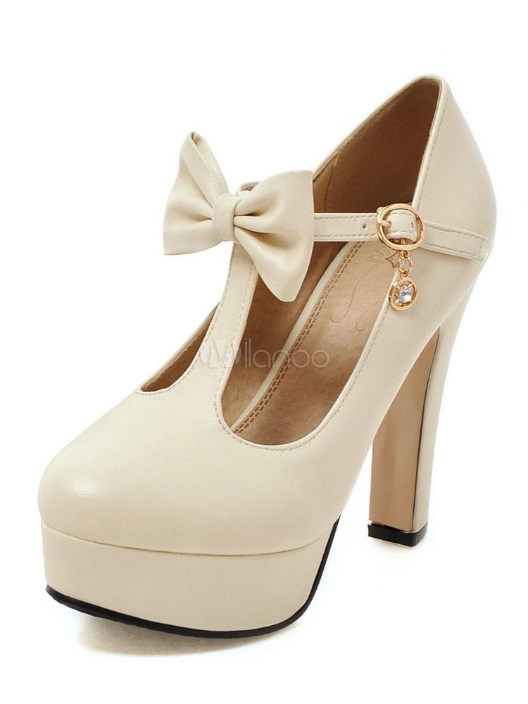 attraktive high heels aus f r party mit schleife pumps f r damen. Black Bedroom Furniture Sets. Home Design Ideas