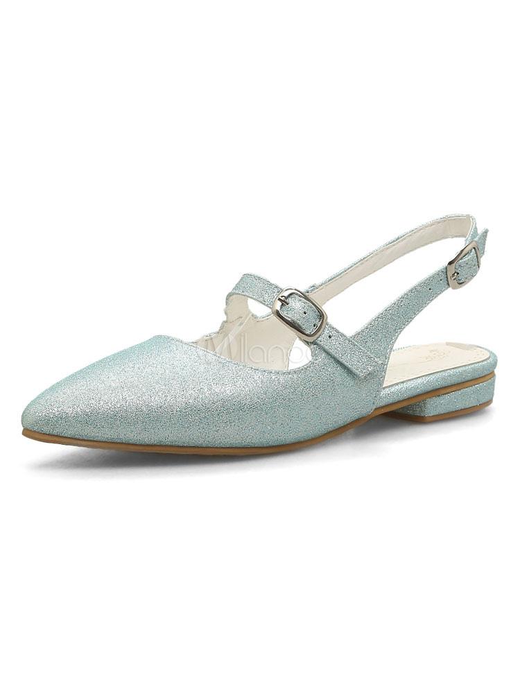 Zapatos planos Planos slip-on de puntera puntiaguada para mujer estilo moderno brillantes para pasar por la noche uE6vvFQh