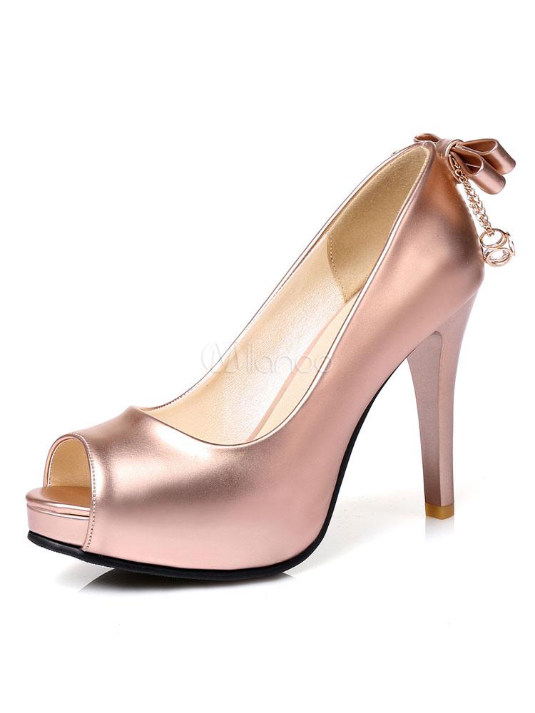 Zapatos de tacón color liso detalles metálicos VN0TR98Fwf