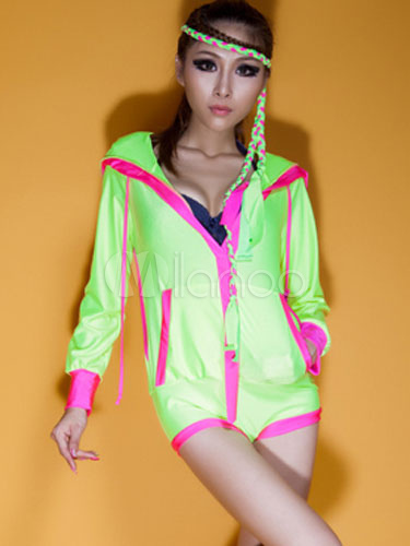 Clearance Hoodie FLUORESCENT Hip Hop Dance Costume Child Small