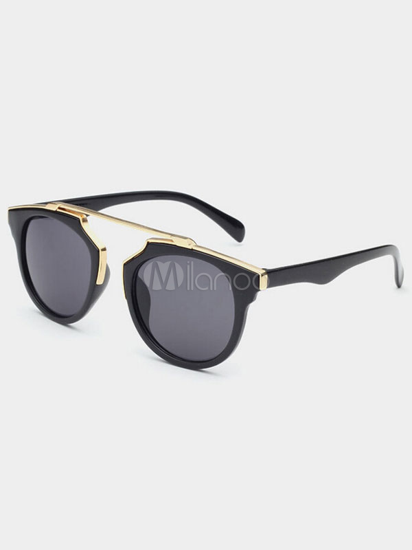 Unisex Color Block Full Rim Sunglasses Cheap clothes, free shipping worldwide