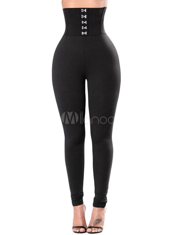 dc24d272536ad Fantastique caleçon pour femme casual en polyester noir unicolore -No.1 ...