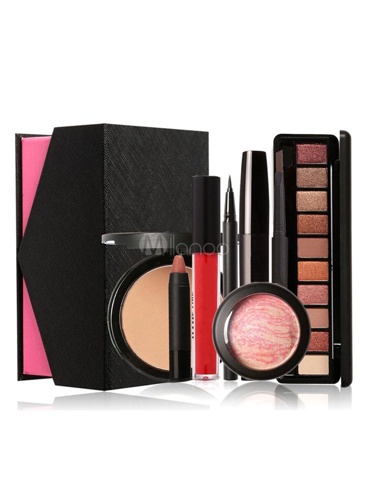 Women's Beauty Compact Earth Tone Matte Lipstick 8 Pieces Makeup Sets