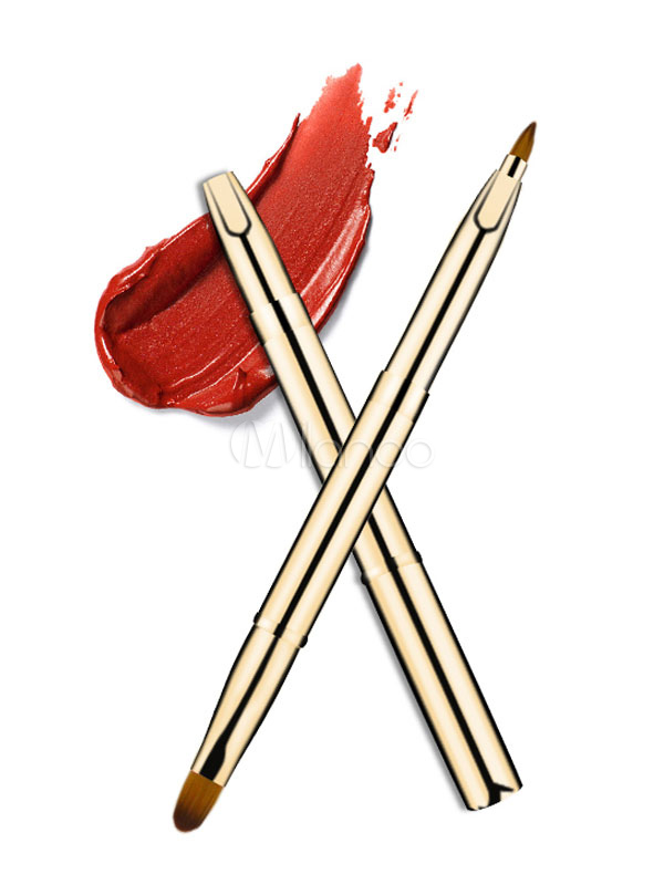 Gold Lip Brush Retractable Makeup Brush Cheap clothes, free shipping worldwide