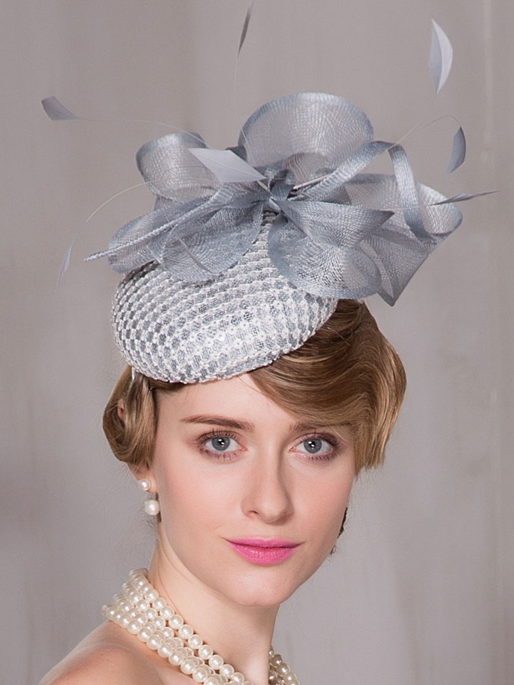 chic cosplay chapeau pour femme en lin gris clair de. Black Bedroom Furniture Sets. Home Design Ideas
