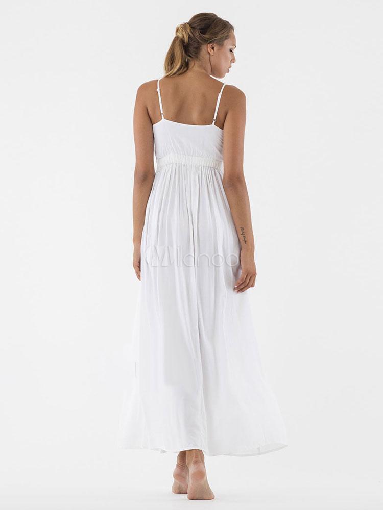 Vestido blanco tirantes largo