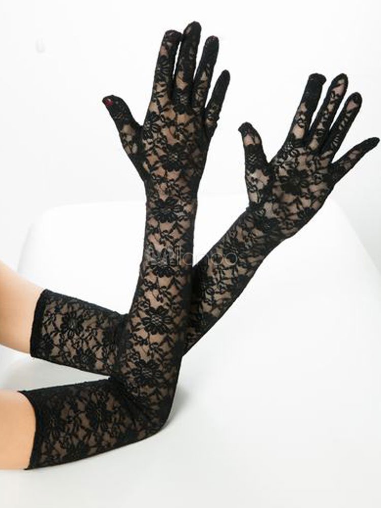 Lace Long Gloves Sexy Sheer Cheap clothes, free shipping worldwide