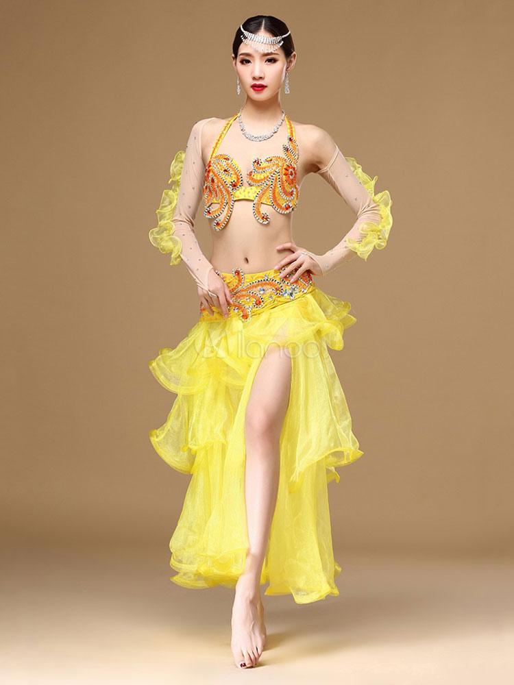sexy costume de danse orientale mode en organza en fibre polyester unicolore danseuse orientale. Black Bedroom Furniture Sets. Home Design Ideas