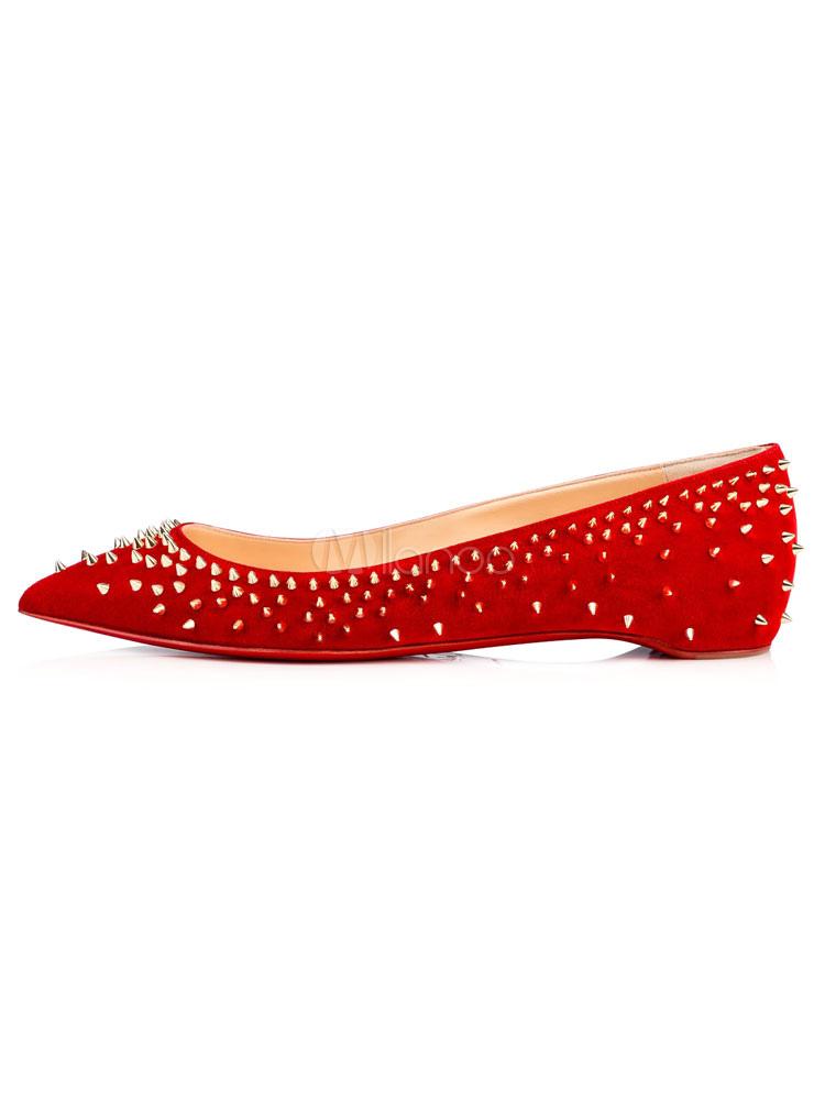 Zapatos planos de puntera puntiaguada slip-on Planos para mujer para pasar por la noche estilo moderno Artísticos Kovtty