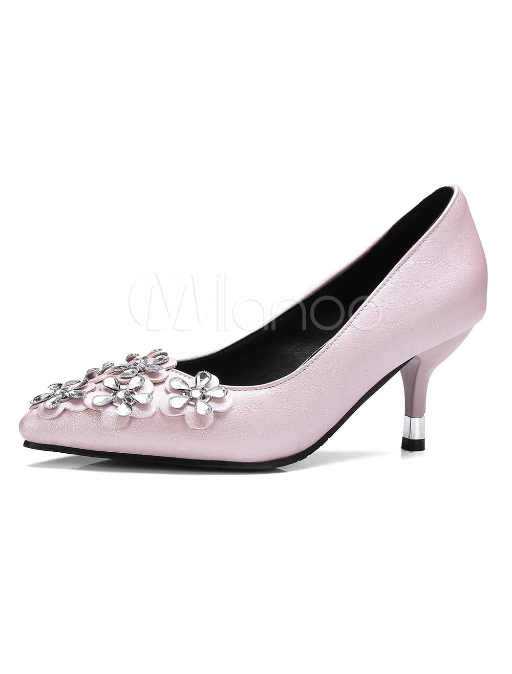 Zapatos de tacón medio de puntera puntiaguada de tacón de kitten estilo modernopara pasar por la noche de PU ue1df24fE