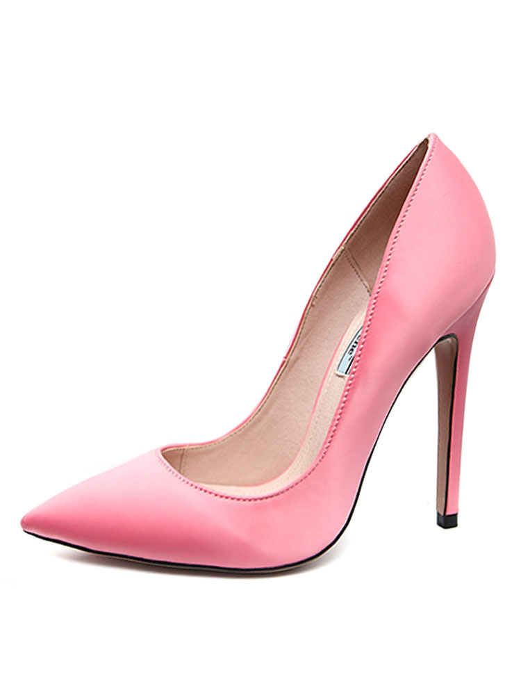 b51852d2a6d4 ... Blue Evening Shoes Satin Pointed Toe Slip On High Heel Pumps-No.3 ...