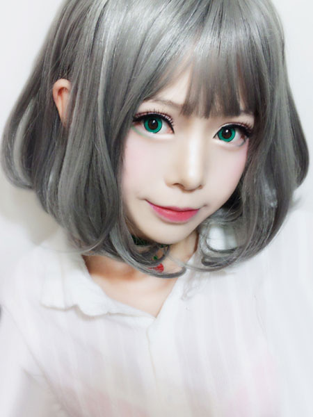 Buy Grey Lolita Wigs Short Straight Bobs Harajuku Synthetic Hair Wigs for $19.99 in Milanoo store