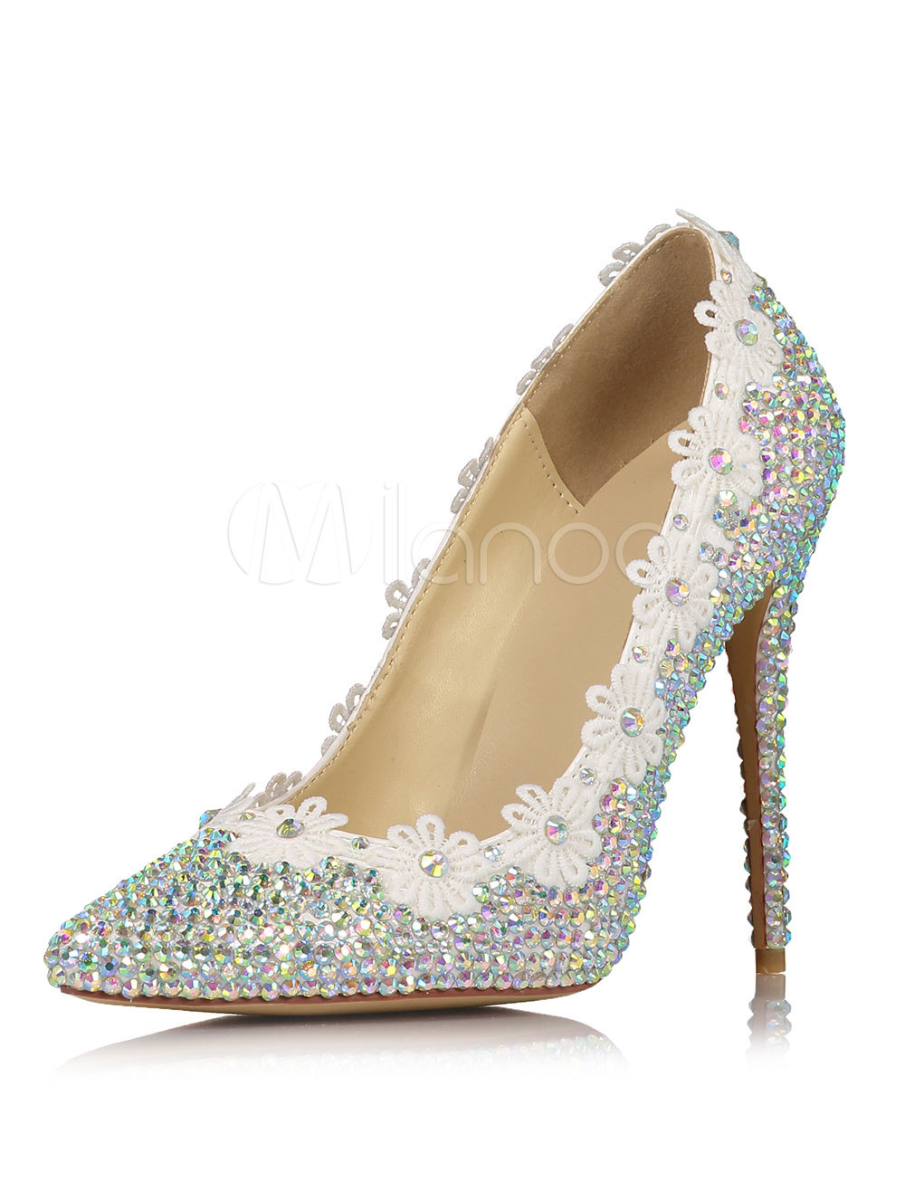 Zapatos con plataforma para novias de cuero auténtico plateados con pedrería de lujo ewXGFvpi8
