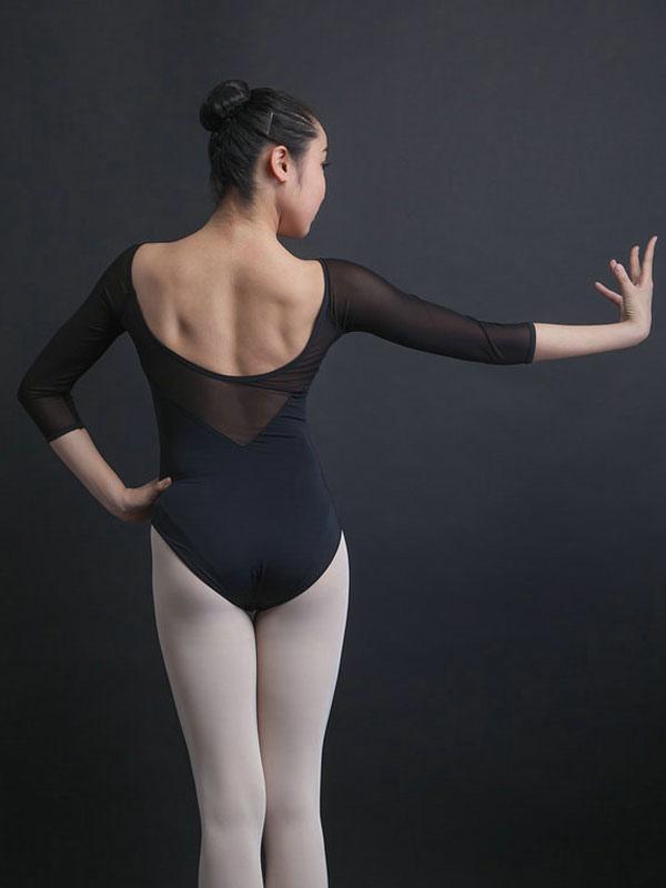 8b71e05b7ad1 Pink Ballerina Costumes Women s V Neck Half Sleeve Ballet Leotards ...