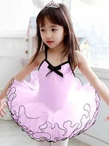 Costumi da ballo danza ballerina rosa senza maniche in costume da ...