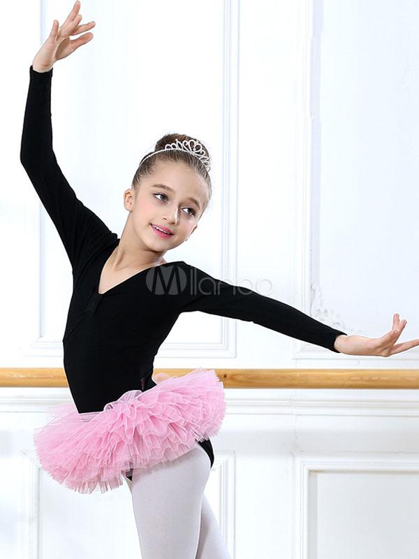 kinder ballerina kost m langarm tutu ballett tanzkleid. Black Bedroom Furniture Sets. Home Design Ideas