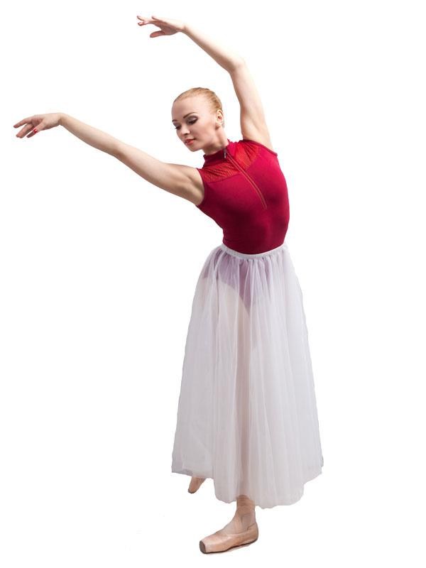26877f037 Disfraces de Baile de Ballet blanco de tul fibra de poliéster Color lisode  bailarina Entrenamiento para adultos con falda