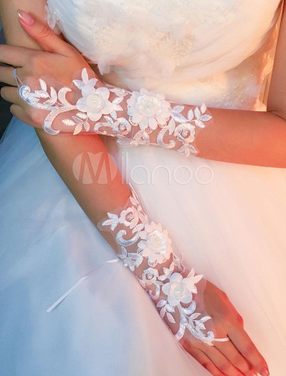 bfa552933068a Gants de mariage   Milanoo.com