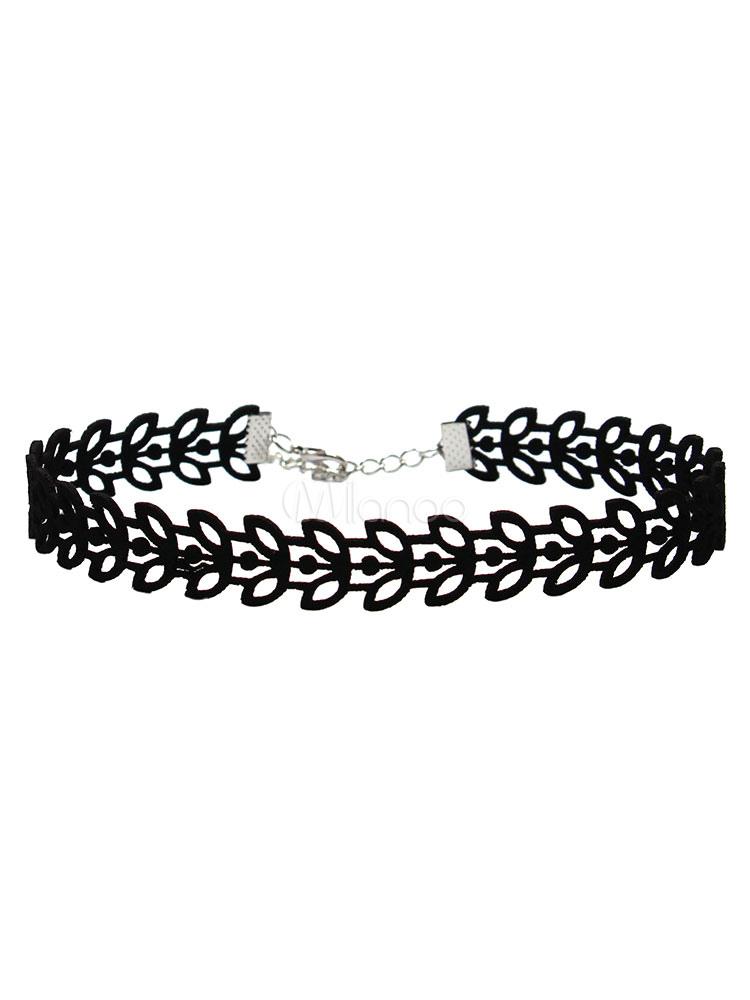 0cc1659a282f Collar De malla negro de encaje estilo moderno para mujer para pasar por la  noche ...