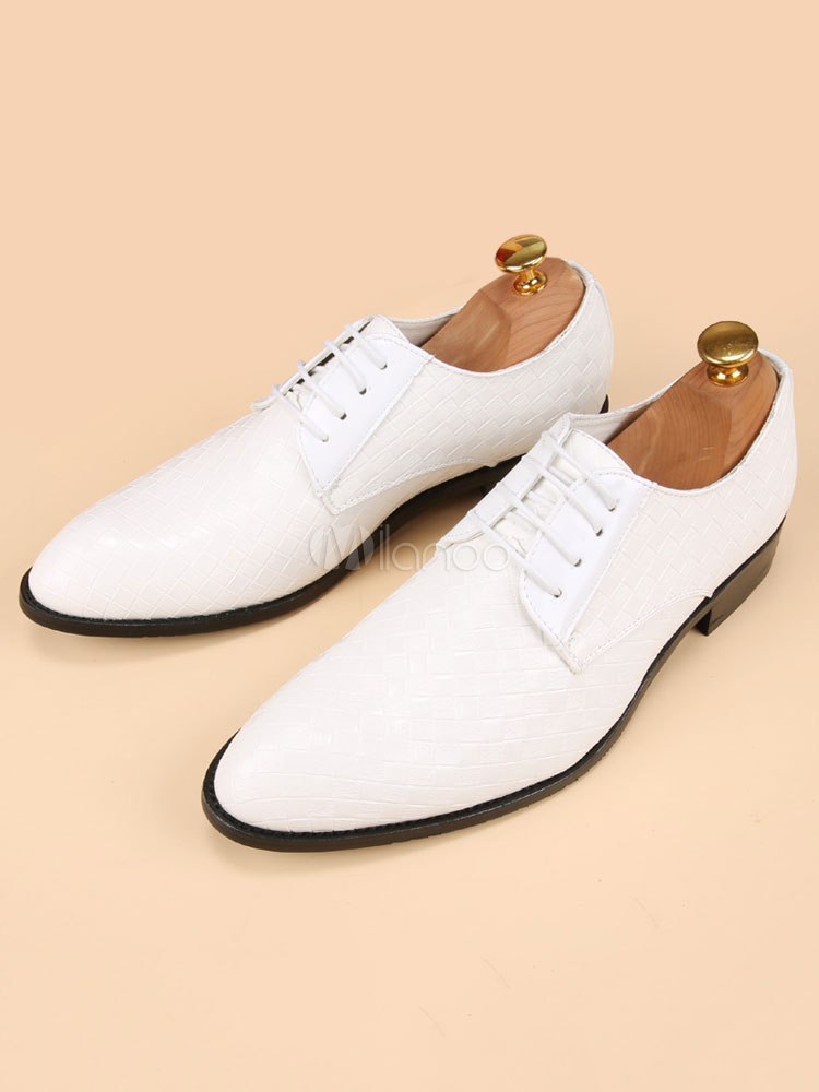 White Dress Shoes Men's Pointed Toe