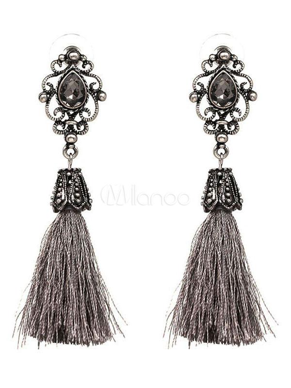 Vintage Tassel Earrings Women's Boho Pendant Earrings