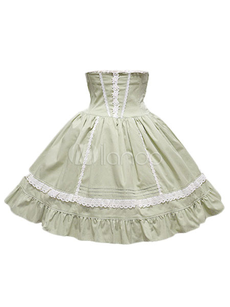 Buy Sweet Lolita Skirt SK Cotton Layered Ruffles Two Tone Lolita Skirt for $44.99 in Milanoo store