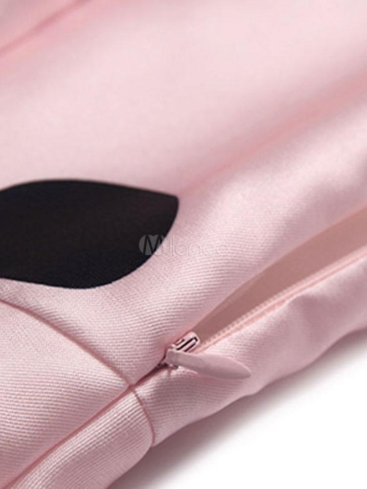 5a16c810b549e ... Abbigliamento vintage rosa donna smanicato con scollo tondo fiocchi  cotone misto -No.4 ...