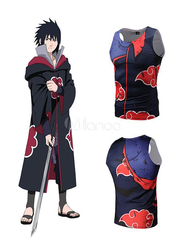 Buy Naruto Comics Uchiha Sasuke Black Anime T Shirt Halloween for $9.19 in Milanoo store