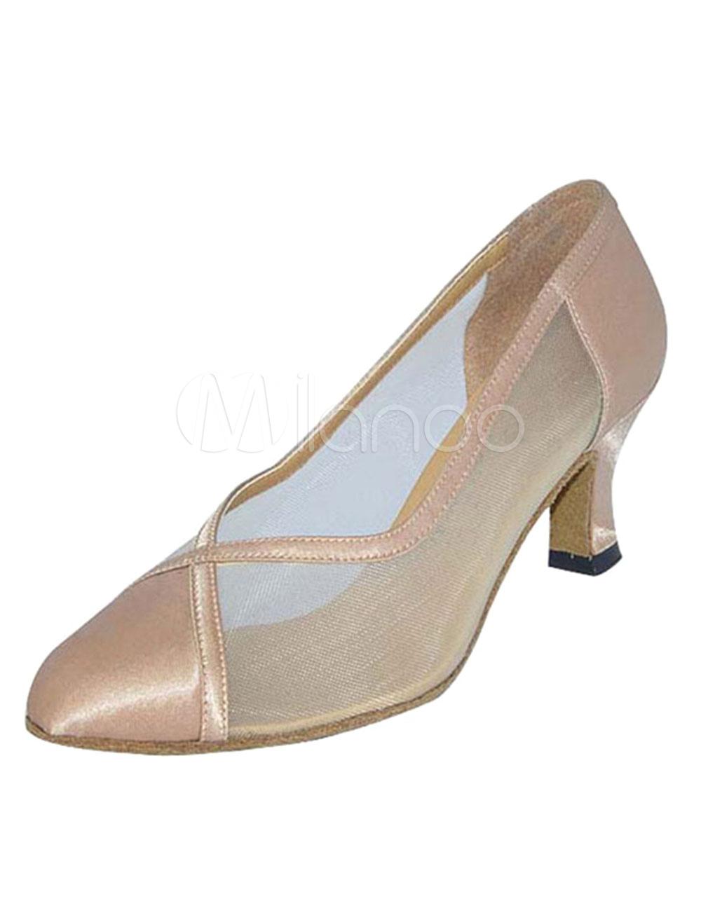 Zapatos de bailes latinos Tacón bobina para baile de puntera puntiaguada 4Kl1PO2Id