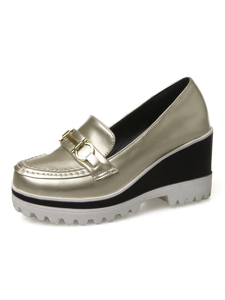 Zapatos Mocasín de puntera redonda para mujer para ocasión informal Color liso vX7aIhaH9M