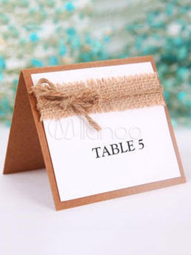 Wedding Place Card Brown Paper Table Card (10 Pcs Per Pack )