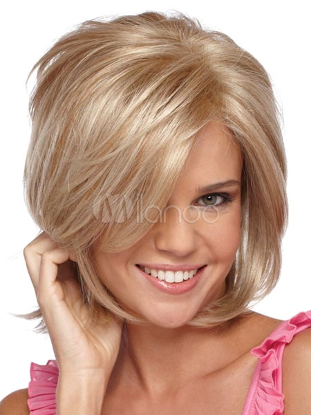 Short Blonde Wigs Boy Cuts Layered Natural Wave Women Human Hair Wigs