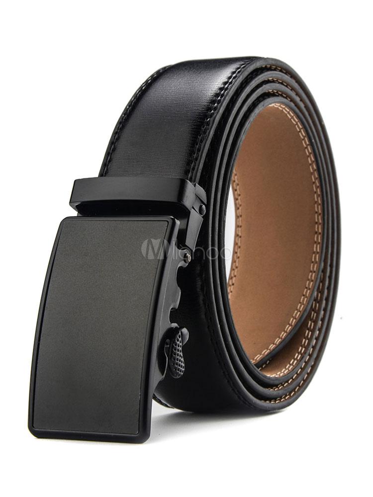 nuevo producto 5b9ce 7d124 Cinturones para hombre negros Color liso Business casual