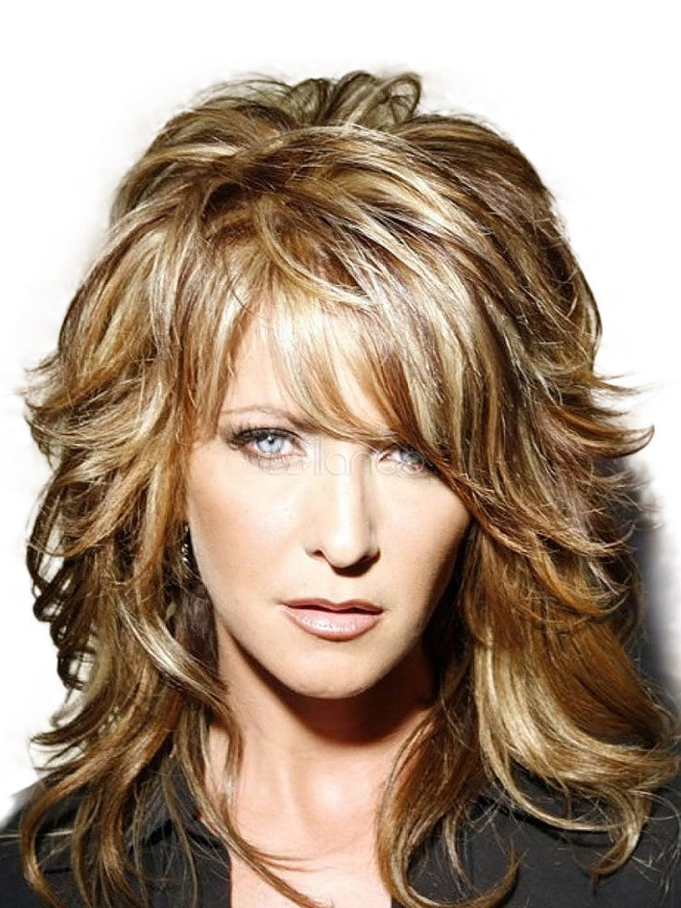 Human Hair Wigs Side Bang Tousled Long Curly Women Hair Wig Cheap clothes, free shipping worldwide