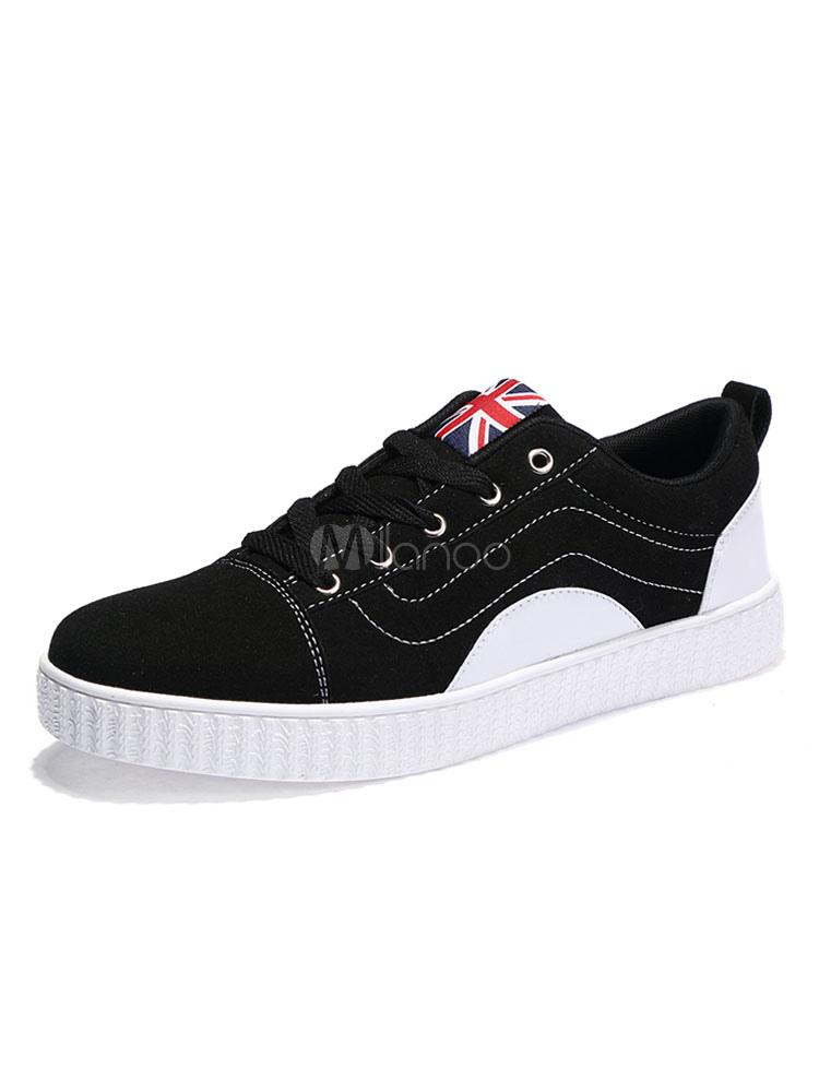 a1322fb6 Zapatos de lona Piel sintética de color-blocking estilo informal de puntera  redonda Otoño para ...