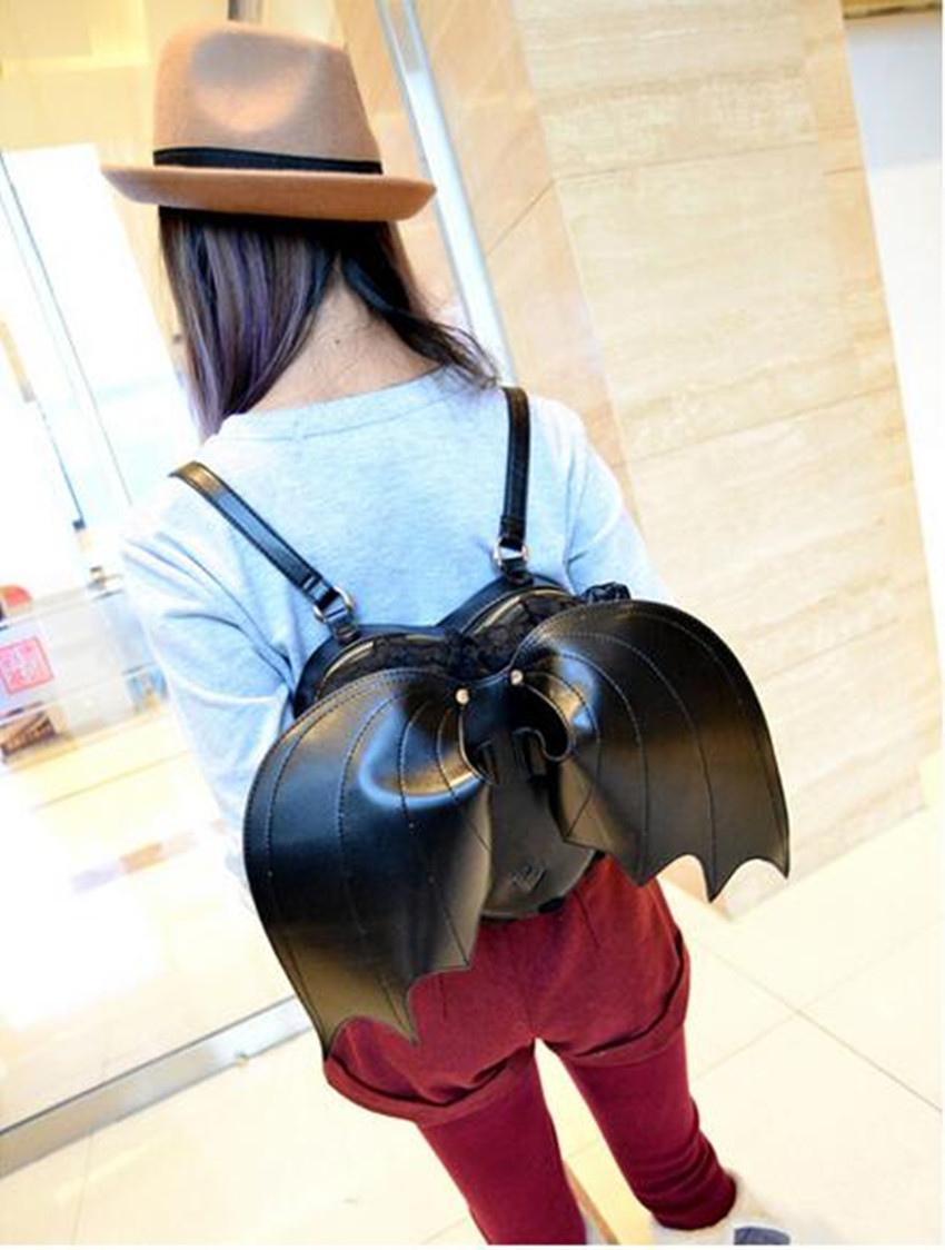Buy Gothic Lolita Handbag Bat Metal Details PU Black Lolita Accessory for $36.79 in Milanoo store
