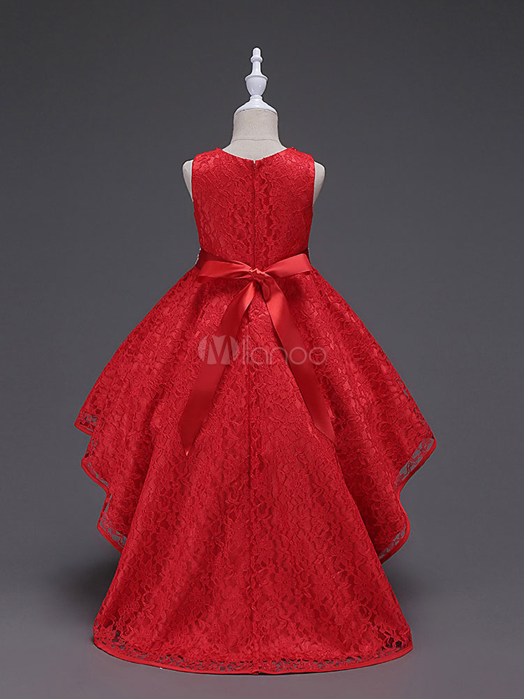 Robe de soiree rouge princesse