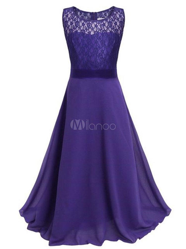 Vestido de niña para boda 2018 de Floristas Chiffon Celeste Cena ...