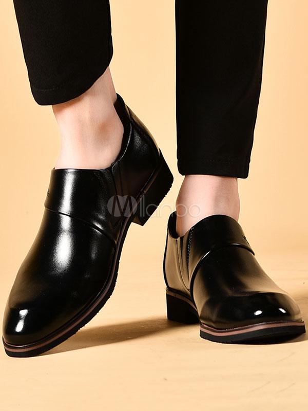 ... Zapatos de vestir de tacón gordo de puntera puntiaguada de PU Color  liso Detalles metálicos estilo ... 26f9e54c3b91