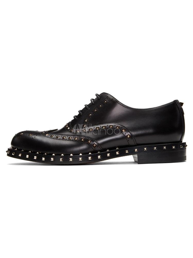 Zapatos de vestir de tacón gordo de puntera redonda de PU Artísticos estilo moderno para hombre Invierno EMc7zzzI