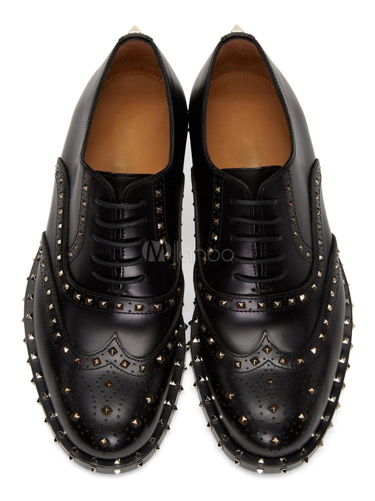 Zapatos de vestir de tacón gordo de puntera redonda de PU Artísticos estilo moderno para hombre Invierno nOtoSmPx