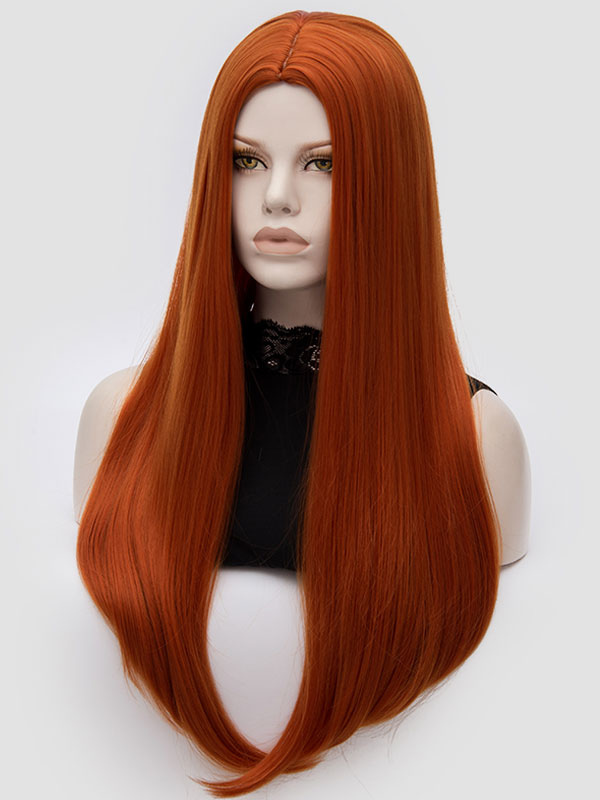 Women Carnival Wig Central Parting Long Straight Layered Synthetic Holiday Wig Cheap clothes, free shipping worldwide