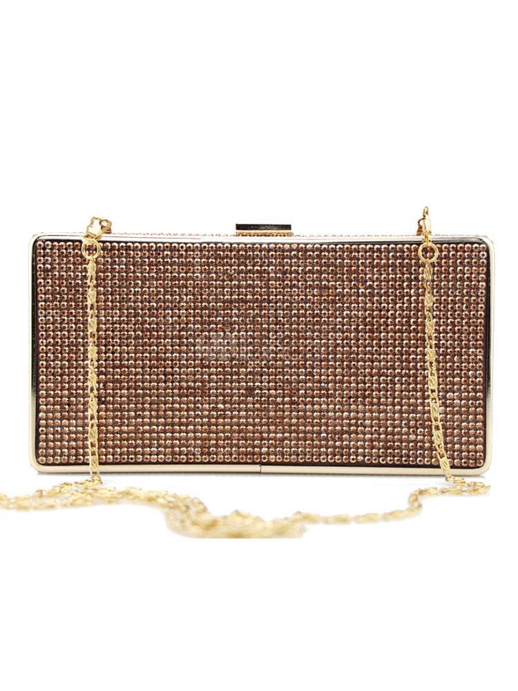 Buy Evening Clutch Bag Wedding Tan Beaded Bridal Party Handbags for $41.99 in Milanoo store