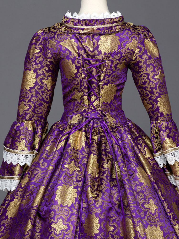 Vestido de retro Tela Satén para adultos de lujo Real para Mardi ...