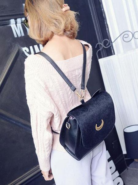 Buy Gothic Lolita Handbag Two Tone Embroidered PU Black Lolita Accessory for $32.19 in Milanoo store