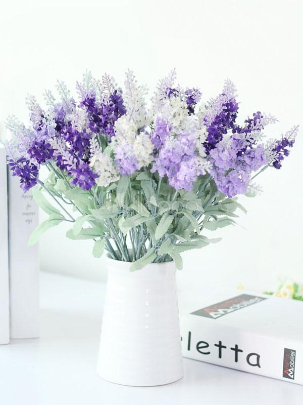 Lavendel Hochzeit Bouquet Seide Brautjungfer Blume Dekoration