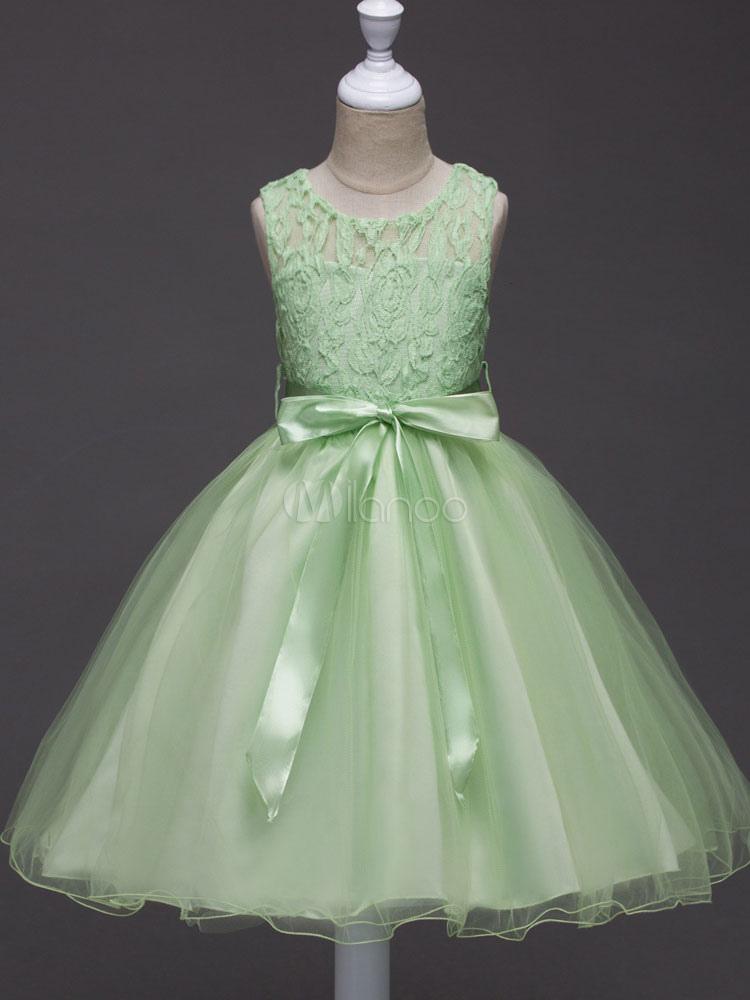 517706a4fe267 Princess Flower Girl Dresses Tutu Kids Formal Dress Lace Ribbon Bow Tulle  Social Party Dress- ...