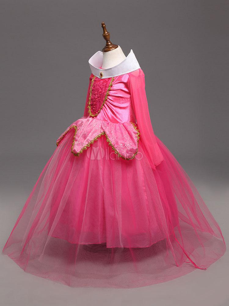 Costume cosplay per bambini set rosa blu abito cartone