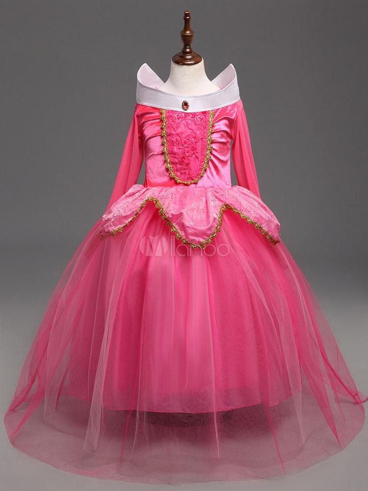 fascino dei costi Scarpe 2018 professionale Costume Halloween per Bambini 2019 Vestito Rosa da Tutu di Principessa  Aurora per Bambina