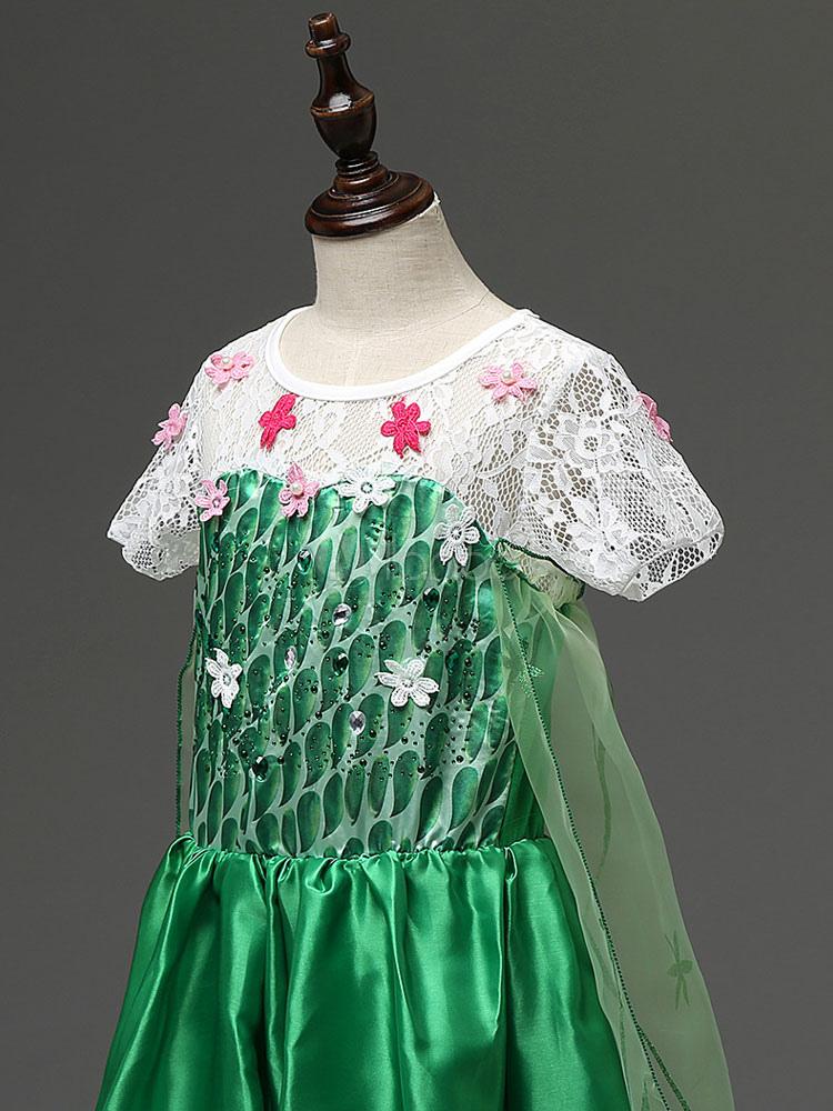 Costume cosplay per bambini set verde abito cartone